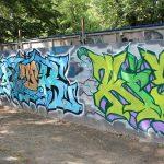 Graffiti-Wand neben dem j.w.d.