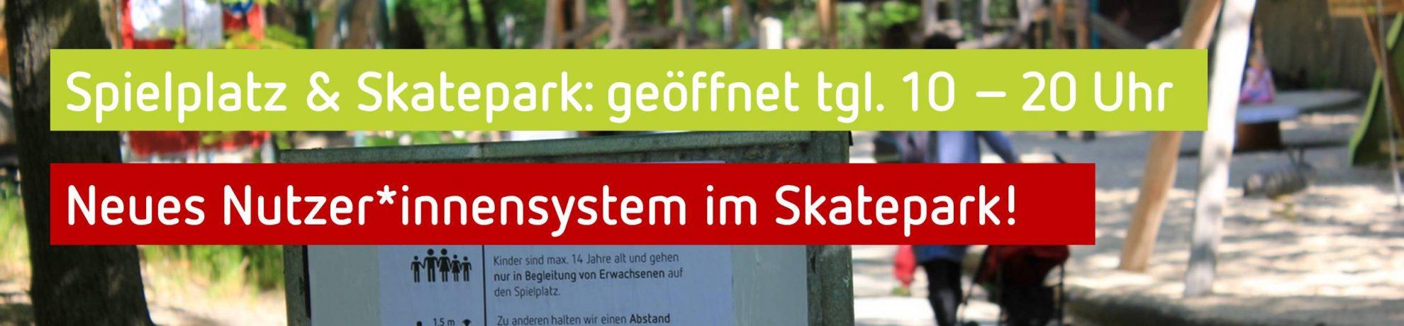 Hinweis Spielplatz Lindenpark