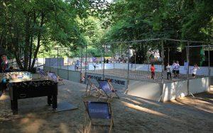 Beach-Soccer Platz am j.w.d.