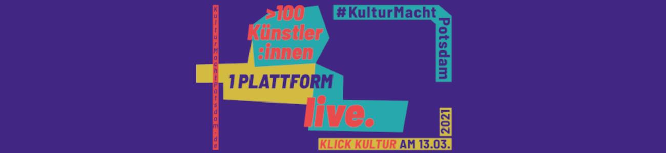 #KulturMachtPotsdam Aktionstag